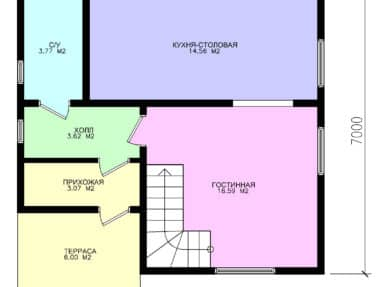 Дом Канзас под ключ под усадку - купить +7 (495) 798-18-28