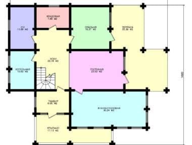 Планировка Дом Викинг под усадку - купить +7 (495) 798-18-28