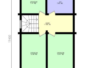 Планировка Готовый деревянный дом Илья под усадку - купить +7 (495) 798-18-28