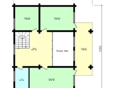 Планировка Дом Витязь под усадку - купить +7 (495) 798-18-28