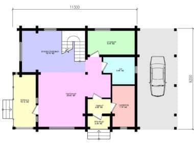 Планировка Дом Комфорт под усадку - купить +7 (495) 798-18-28