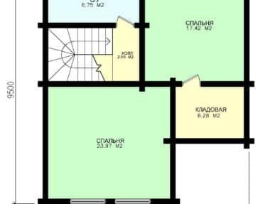 Планировка Коттедж  под усадку Богатырь - купить +7 (495) 798-18-28