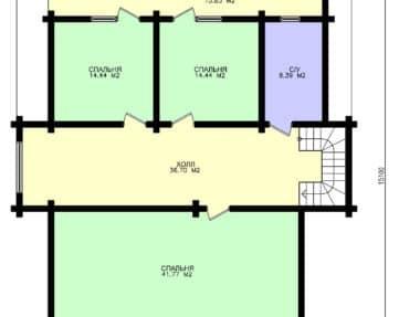 Планировка Дом коттедж Боярин под усадку - купить +7 (495) 798-18-28