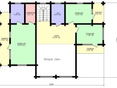 Планировка Дом Славянский под усадку - купить +7 (495) 798-18-28