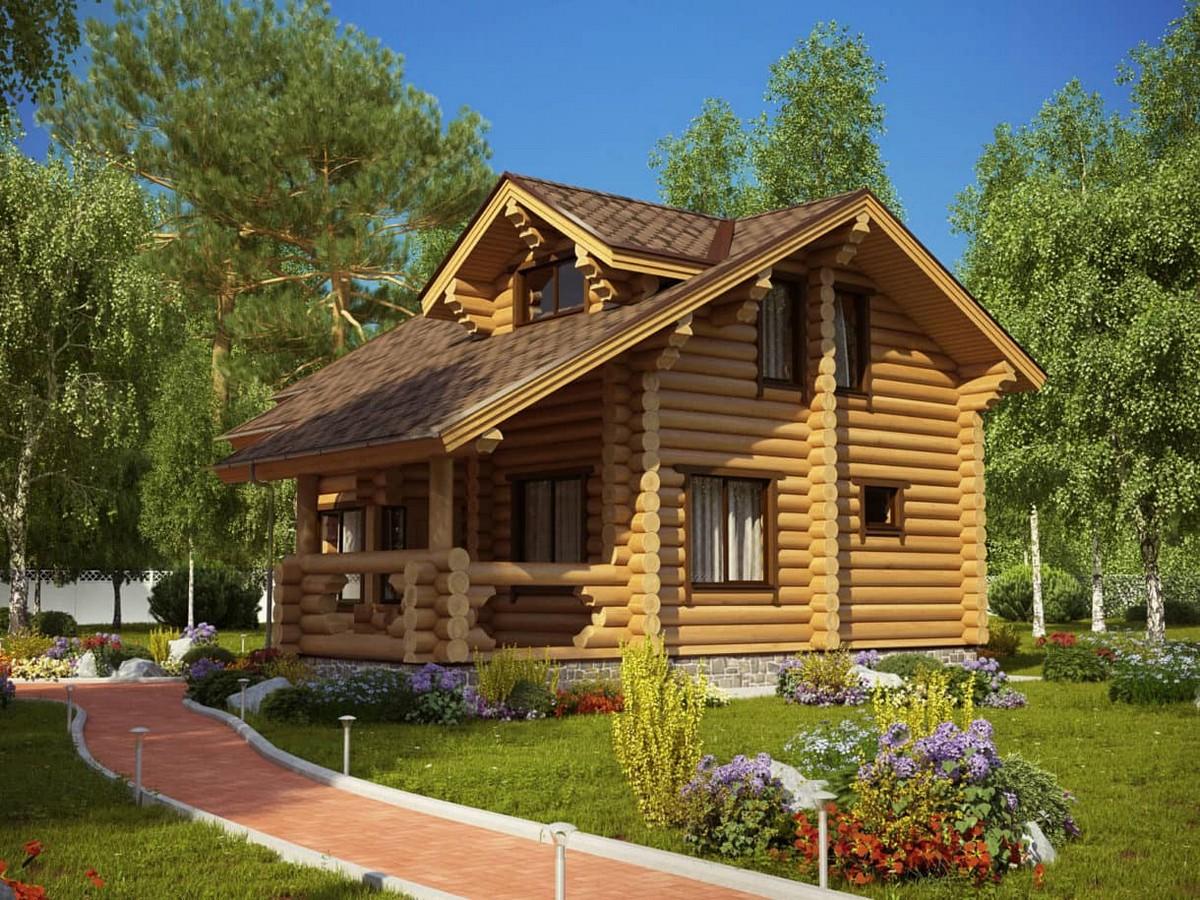 Дом Белая дача из клееного бруса