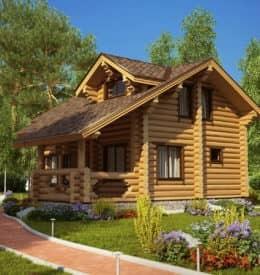 Коттедж деревянный «Белая дача» под усадку