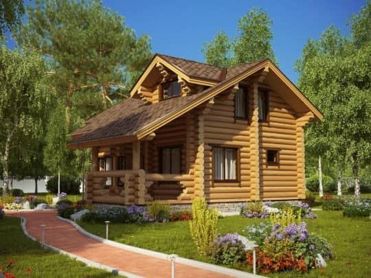 Коттедж деревянный «Белая дача» под усадку - купить +7 (495) 798-18-28