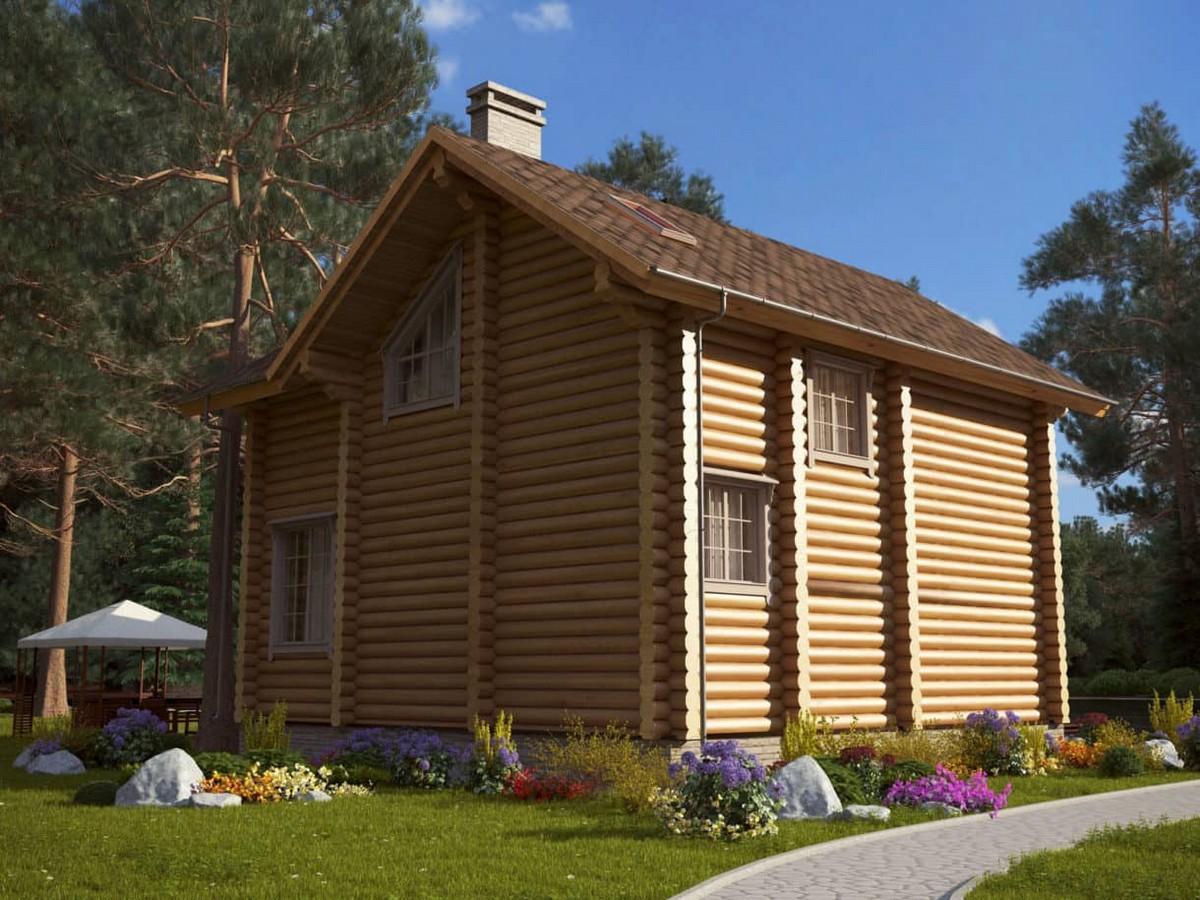 Дом Богатырь из клееного бруса
