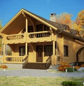 Готовый деревянный дом «Илья» под усадку - купить +7 (495) 798-18-28