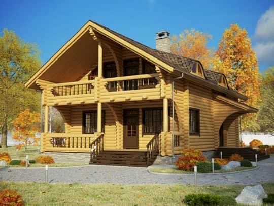 Готовый деревянный дом «Илья» под усадку