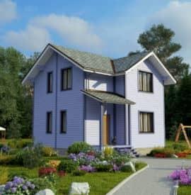 Дом «Канзас» под ключ под усадку - купить +7 (495) 798-18-28