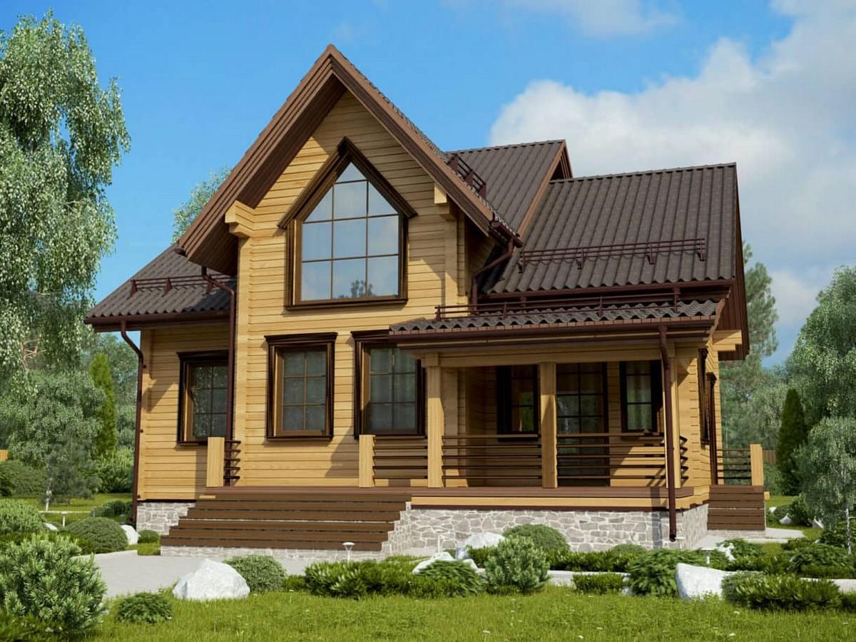 Современные дома из дерева Успех под усадку - купить +7 (495) 798-18-28