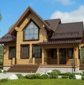 Современные дома из дерева «Успех» под усадку - купить +7 (495) 798-18-28