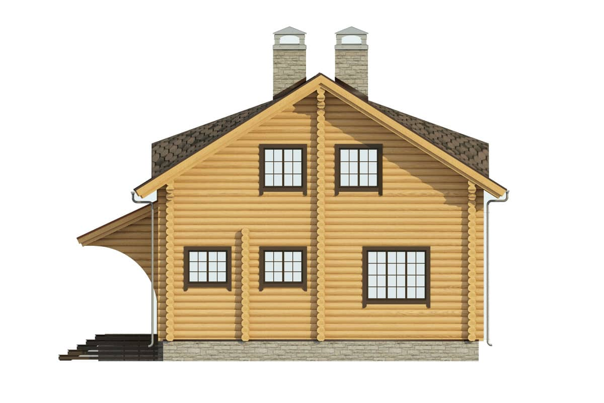 Готовый деревянный дом Илья под усадку - купить +7 (495) 798-18-28