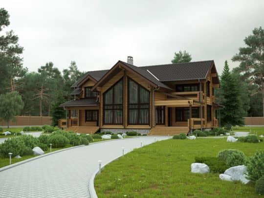 Проекты деревянных коттеджей