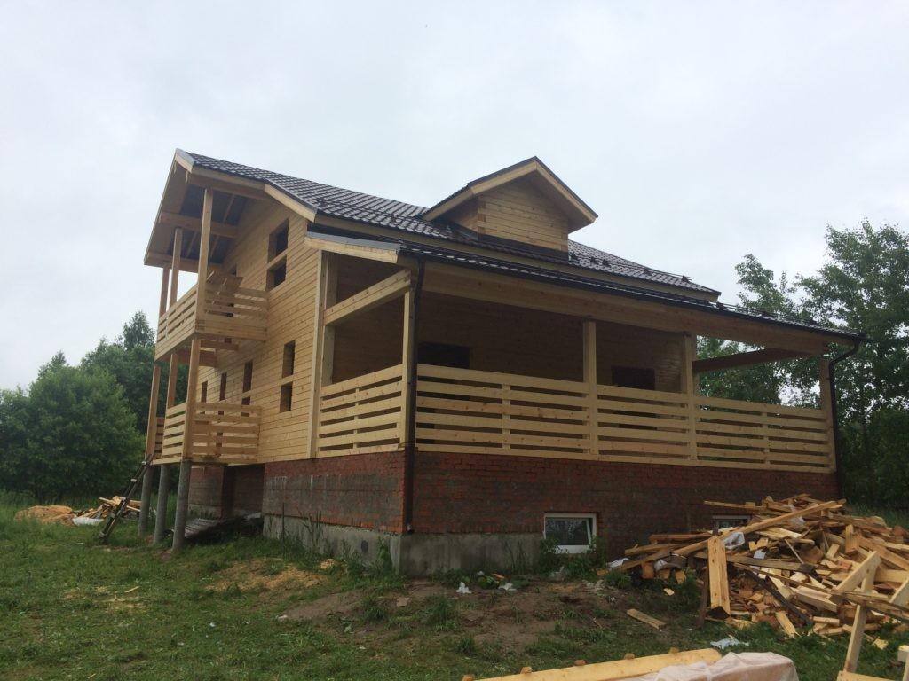 строительство дома из профилированного бруса в московской области