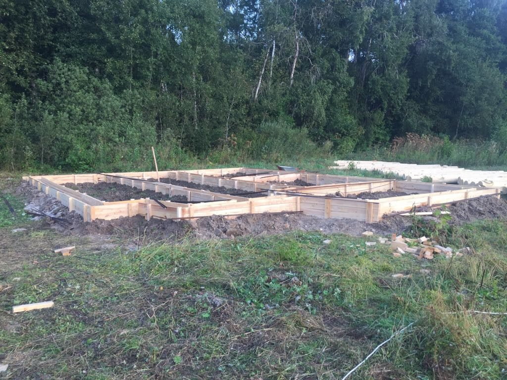 Фундамент для постройки дома из бруса