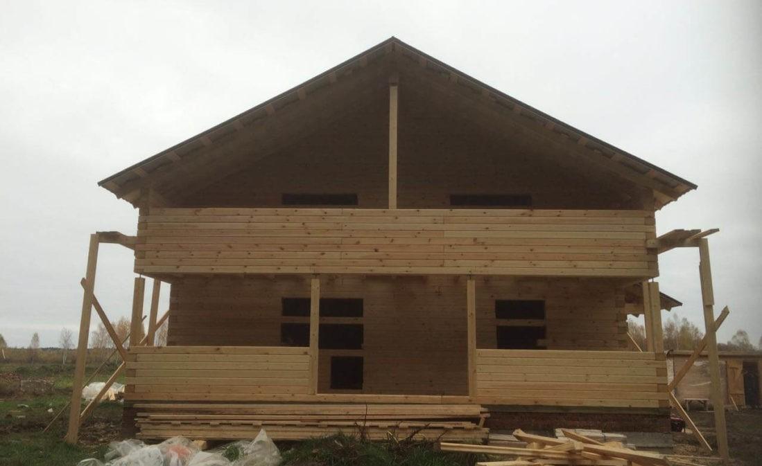 Дом в Лесных Далях из профилированного бруса 195/145