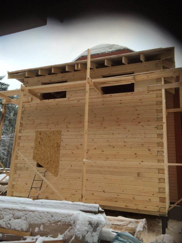 фото пристроек к деревянному дому