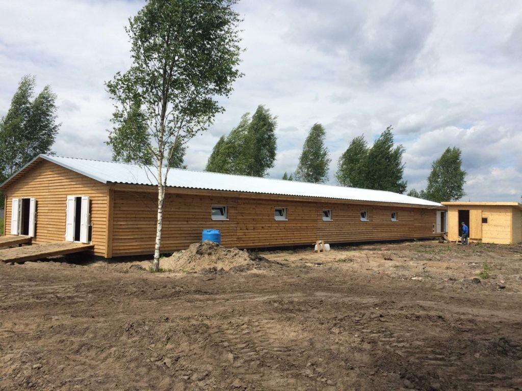 строительство гусятника в Куровском