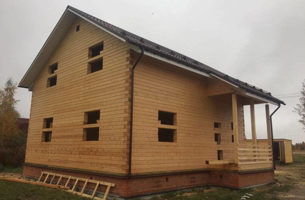 Дом из профилированного бруса 195/145 в г. Куровском