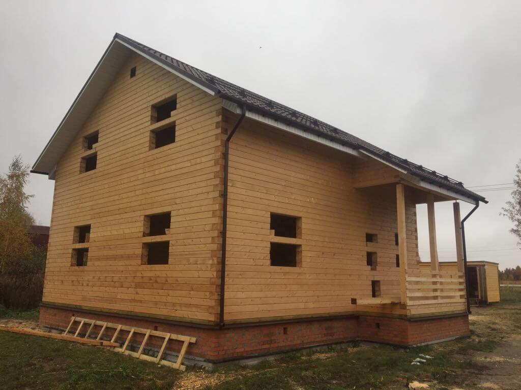 дом из профилированного бруса 195/145