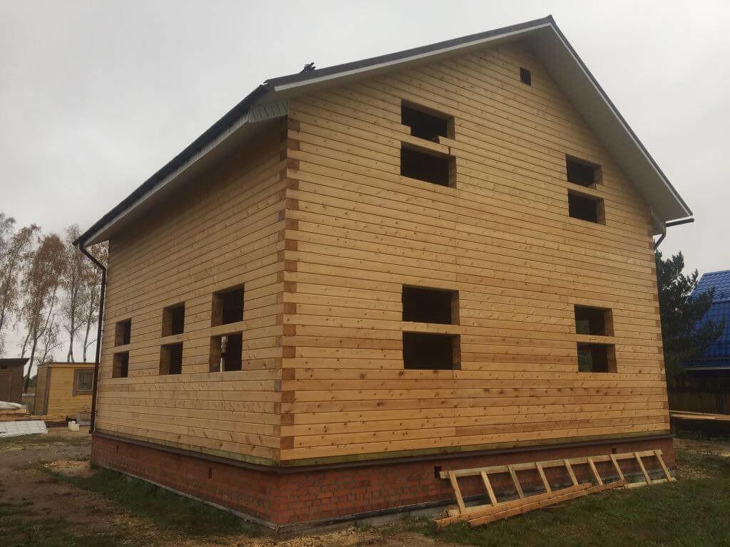 Дом из профилированного бруса на ленточном фундаменте