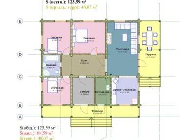 Планировка Дом Одноэтажный под усадку - купить +7 (495) 798-18-28