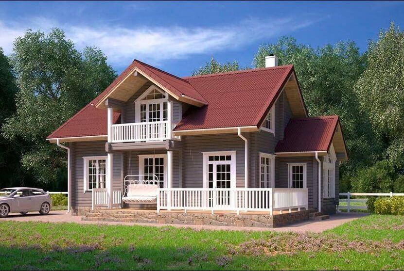 Дом из клееного бруса под усадку - купить +7 (495) 798-18-28