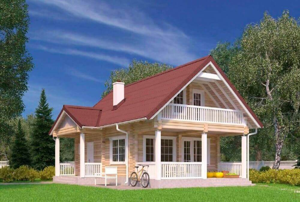 Дом из бруса 6х10 метров под усадку - купить +7 (495) 798-18-28
