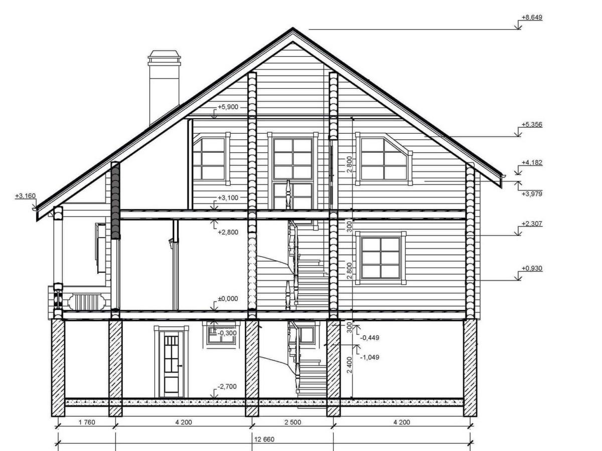 Дом с подвалом под усадку - купить +7 (495) 798-18-28