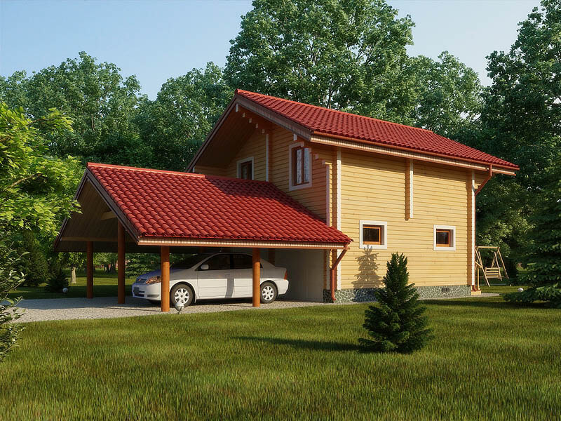 Дом брусовый под усадку - купить +7 (495) 798-18-28