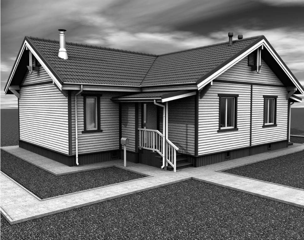 Дом из оцилиндрованного бревна под усадку - купить +7 (495) 798-18-28