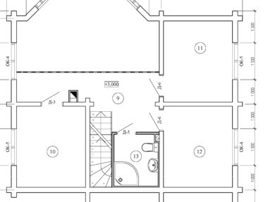 Планировка Коттедж из профилированного бруса под усадку - купить +7 (495) 798-18-28