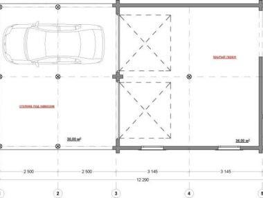 Планировка Дом брусовый под усадку - купить +7 (495) 798-18-28