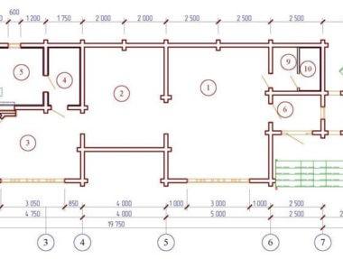 Планировка Баня с комнатой отдыха под усадку - купить +7 (495) 798-18-28